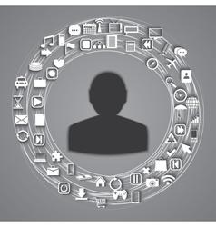 media world vector image