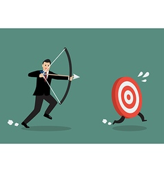 Target run away from businessman archer vector image vector image