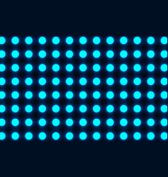 the bright blue circles on a dark background vector image