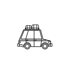 travel car line icon travel tourism vector image vector image