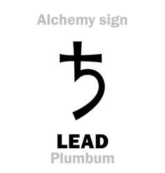 alchemy lead plumbum vector image vector image