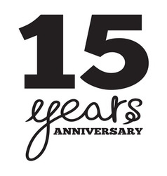 ANNIVERSARY script5 resize vector image vector image