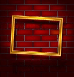 Frame on the red brick wall vector image