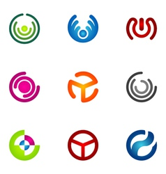 logo design elements set 69 vector image vector image