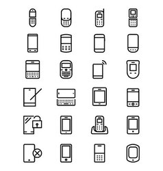 Mobile Line Icons 1 vector image vector image