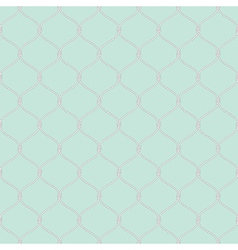Nautical rope seamless fishnet pattern on light vector image
