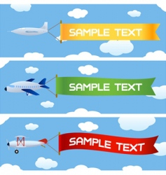 planes with message vector image vector image