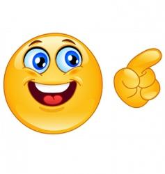 pointing emoticon vector image