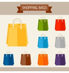 Shopping bags colored templates for your design in vector image vector image