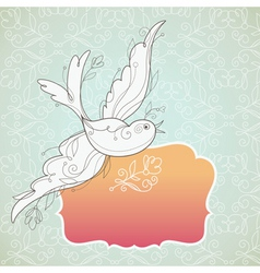 vector birds with frame vector image