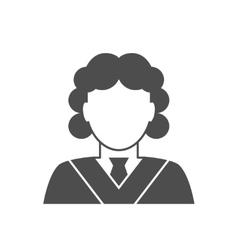 Judge avatar icon vector image vector image