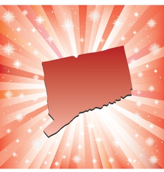 Red Connecticut vector image