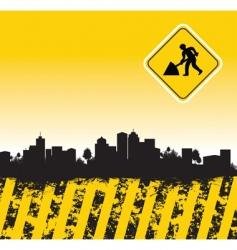 splash cityscape vector image