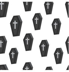 coffin seamless pattern vector image vector image