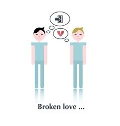 Gay relationship icon vector image vector image