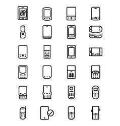 Mobile Line Icons 2 vector image