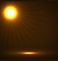 Abstract background with glowing sun rays vector