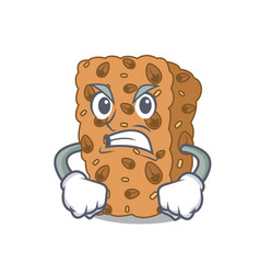 Angry granola bar mascot cartoon vector