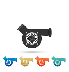 Automotive turbocharger icon on white background vector