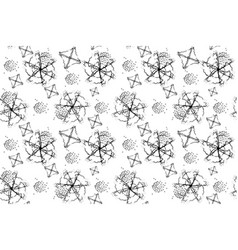 black and white abstract shapes vector image