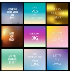Blurred gradient backgrounds with inspiring vector image