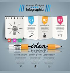business infographics pencil icon idea vector image