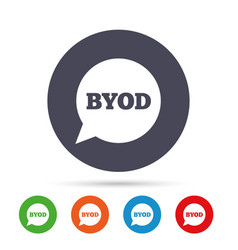 byod sign icon bring your own device symbol vector image