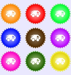 Car Icon sign Big set of colorful diverse vector