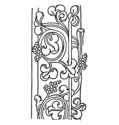 Carving are from ely cathedral vintage engraving vector