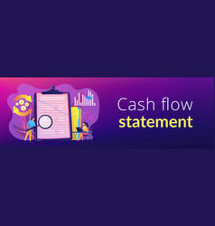 cash flow statement concept banner header vector image