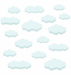 Clouds air blue sky vector
