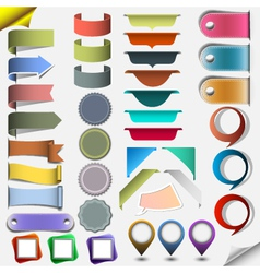 Collection different web elements vector