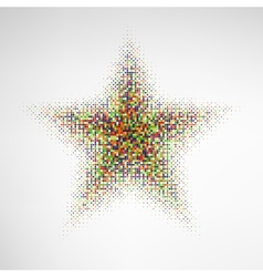 Color Halftone Star vector image