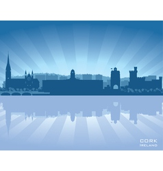 Cork Ireland skyline vector image