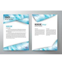 cover design template brochure flyer leaflet vector image