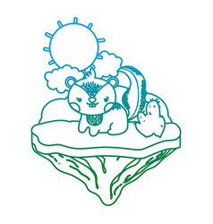 Degarded line tender chipmunk animal in float vector