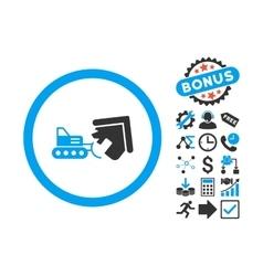 Demolition Flat Icon with Bonus vector