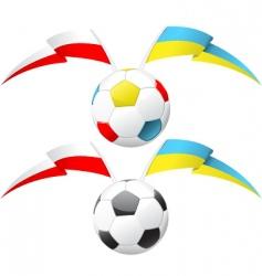 euro soccer ball vector image