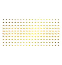 fast delivery car golden halftone grid vector image