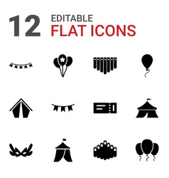 Festival icons vector