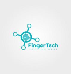 Fingerprint logo design vector