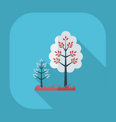 Flat modern design with shadow icons tree vector