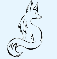 Fox animal vector
