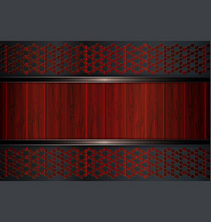 Geometrical background with dark metal grilles and vector
