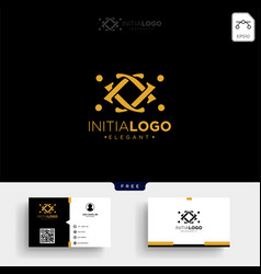 Gold luxury and premium initial j logo template vector