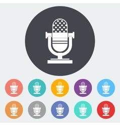 Icon vintage microphone vector image