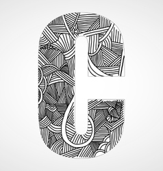 Letter C from doodle alphabet vector image