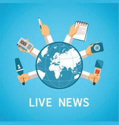 live news concept in modern flat style vector image