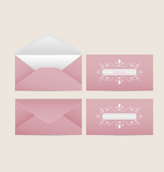 Mail envelope blank paper envelopes vector