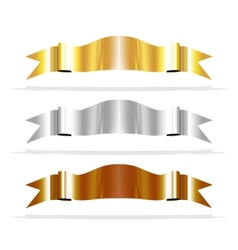 Metalic ribbons for your design project vector